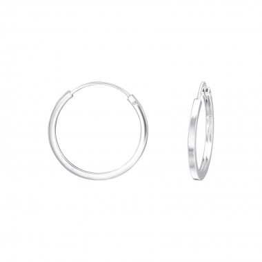 20mm - 925 Sterling Silver Hoop Earrings SD38654