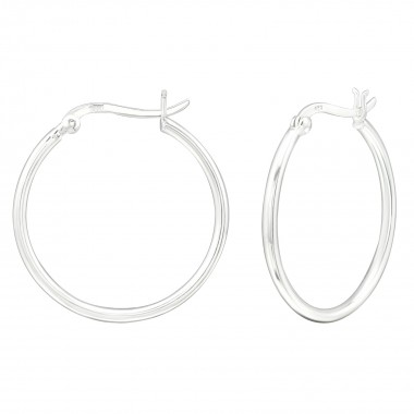 30mm - 925 Sterling Silver Hoop Earrings SD39917