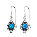 Marquise Synthetic - 925 Sterling Silver Earrings with Gemstones SD23649