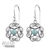 Filigree - 925 Sterling Silver Earrings with Gemstones SD30295