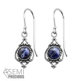 Antique - 925 Sterling Silver Earrings with Gemstones SD30296