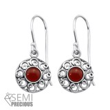 Filigree - 925 Sterling Silver Earrings with Gemstones SD30297
