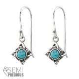 Celtic - 925 Sterling Silver Earrings with Gemstones SD31249