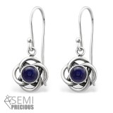 Celtic - 925 Sterling Silver Earrings with Gemstones SD31252