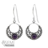 Bali - 925 Sterling Silver Earrings with Gemstones SD32043