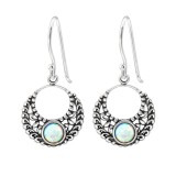 Bali - 925 Sterling Silver Earrings with Gemstones SD32044