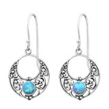 Bali - 925 Sterling Silver Earrings with Gemstones SD32046