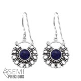 Bali - 925 Sterling Silver Earrings with Gemstones SD32047