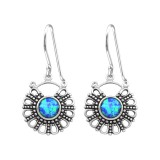 Bali - 925 Sterling Silver Earrings with Gemstones SD32048