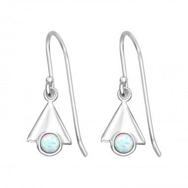 Triangle - 925 Sterling Silver Earrings with Gemstones SD32051