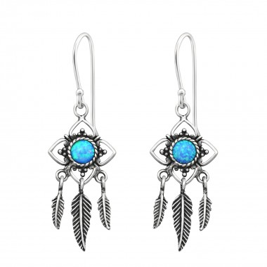 Flower Earring With Hanging...