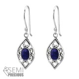 Marquise - 925 Sterling Silver Earrings with Gemstones SD35231