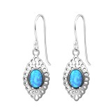 Marquise - 925 Sterling Silver Earrings with Gemstones SD36122