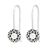 Oxidized - 925 Sterling Silver Earrings with Gemstones SD37967