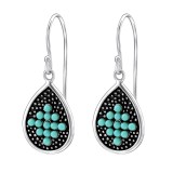 Drop - 925 Sterling Silver Earrings with Pearls SD25872