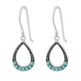 Drop - 925 Sterling Silver Earrings with Pearls SD25874