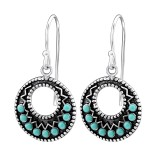 Round - 925 Sterling Silver Earrings with Pearls SD25876