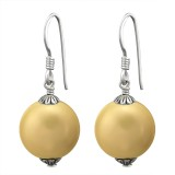 Dangle - 925 Sterling Silver Earrings with Pearls SD8835