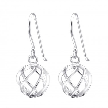 Knot - 925 Sterling Silver Simple Earrings SD14099