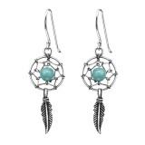 Dream Catcher - 925 Sterling Silver Simple Earrings SD30825