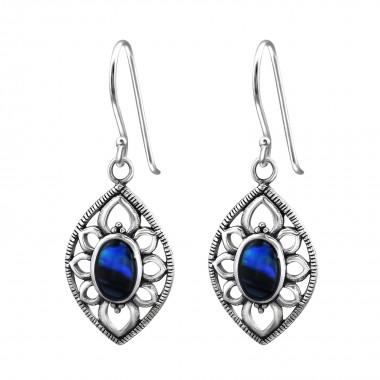Marquise - 925 Sterling Silver Simple Earrings SD30829