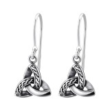 Trinity Knot - 925 Sterling Silver Simple Earrings SD31574