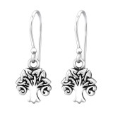 Celtic Tree Of Life - 925 Sterling Silver Simple Earrings SD31611