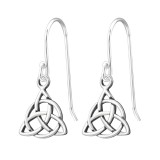 Celtic Knot - 925 Sterling Silver Simple Earrings SD31739