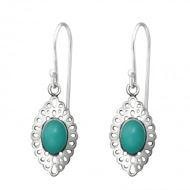 Marquise - 925 Sterling Silver Simple Earrings SD36446