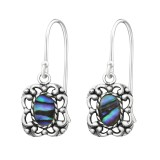 Antique - 925 Sterling Silver Simple Earrings SD37558