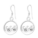 Wave - 925 Sterling Silver Simple Earrings SD37853