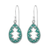 Teardrop - 925 Sterling Silver Simple Earrings SD37969