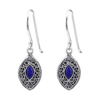 Marquise - 925 Sterling Silver Simple Earrings SD38568