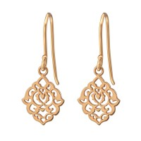 Filigree - 925 Sterling Silver Simple Earrings SD38655