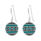 Ethnic - 925 Sterling Silver Simple Earrings SD39076
