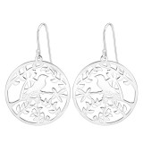 Bird - 925 Sterling Silver Simple Earrings SD39209