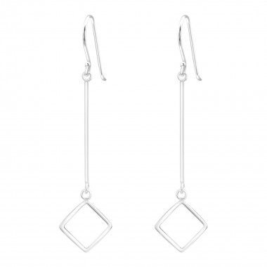 Geometrical - 925 Sterling Silver Simple Earrings SD39883