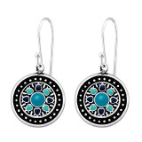 Ethnic - 925 Sterling Silver Simple Earrings SD41039