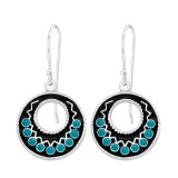 Ethnic - 925 Sterling Silver Simple Earrings SD41040