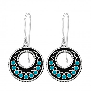 Ethnic - 925 Sterling Silver Simple Earrings SD41041