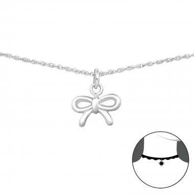 Bow - 925 Sterling Silver C...