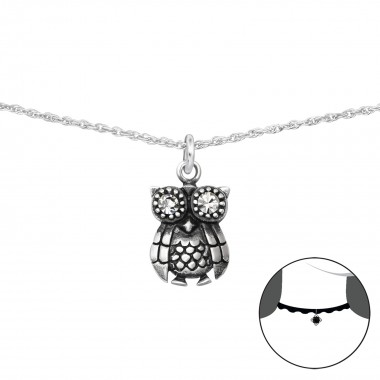 Owl - 925 Sterling Silver C...