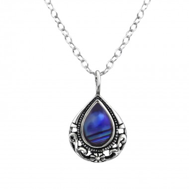 Teardrop - 925 Sterling Silver Necklaces with Stones SD30861