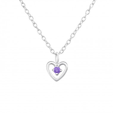 Birthstone Heart - 925 Ster...