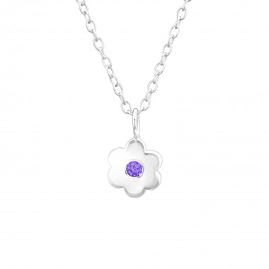 Birthstone Flower - 925 Ste...