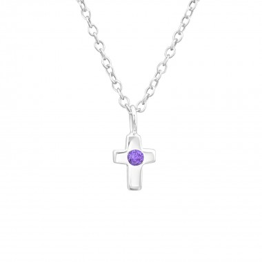 Birthstone Cross - 925 Ster...