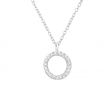 Circle - 925 Sterling Silver Necklaces with Stones SD36358