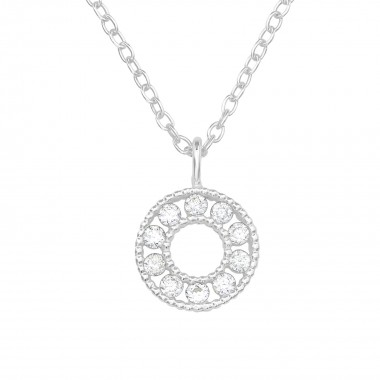Circle - 925 Sterling Silver Necklaces with Stones SD39712