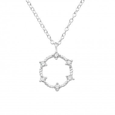 Wreath - 925 Sterling Silver Necklaces with Stones SD39784