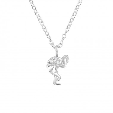 Flamingo - 925 Sterling Silver Necklaces with Stones SD39785